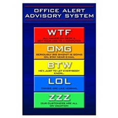 Office Alert Advisory (Plain) Poster