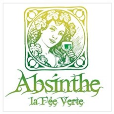 Absinthe Fairy Vintage Poster