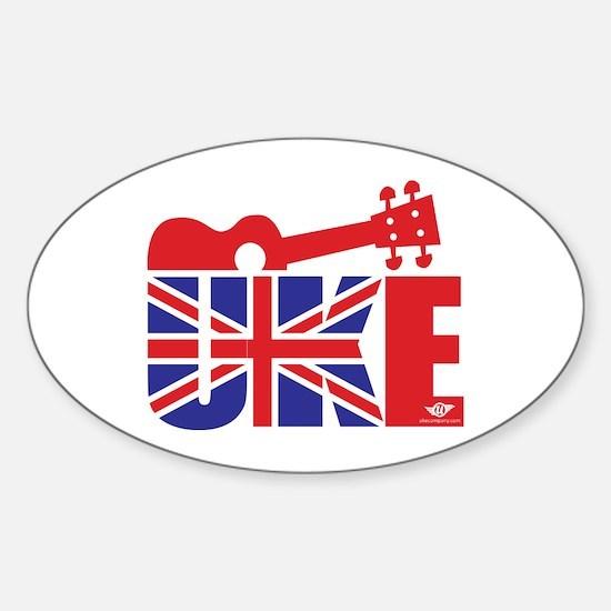 UK-E Ukulele Sticker (Oval)