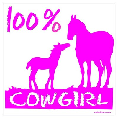 100% COWGIRL Canvas Art