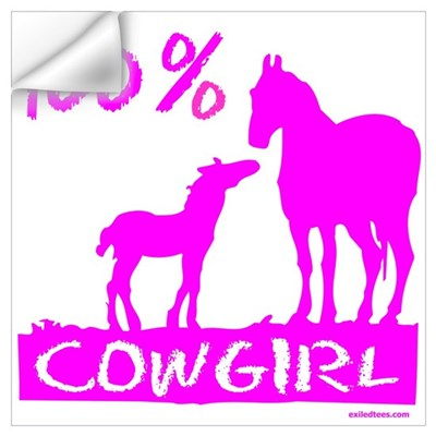 100% COWGIRL Wall Decal