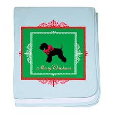 Merry Christmas Schnauzer baby blanket