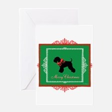 Merry Christmas Schnauzer Greeting Card
