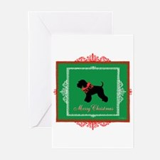 Merry Christmas Schnauzer Greeting Cards (Pk of 20