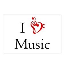 I Heart Music Postcards (Package of 8)