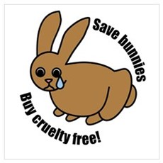 Save Bunnies Cruelty-Free Canvas Art