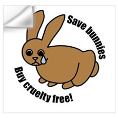 Save Bunnies Cruelty-Free Wall Decal