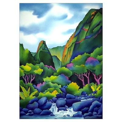 Iao Valley, Hawaii Poster