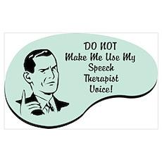 Speech Therapist Voice Poster