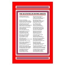Fifty States Rhyme, 50 US States Poster