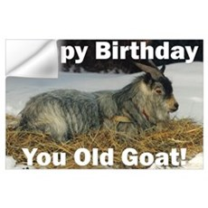 Old Goat Birthday Wall Decal