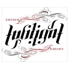 Twilight Forever Ambigram Poster