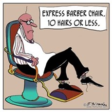 Express Barber Chair Poster