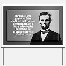 Abe Lincoln - Gettysburg Address Yard Sign
