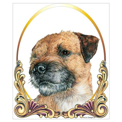 Border Terrier Christmas/Holiday Poster