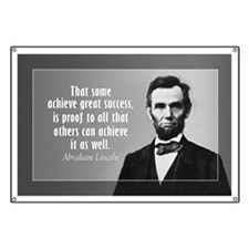 Lincoln Quote Sucess Banner
