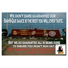 BBQ Sauce tank car Poster