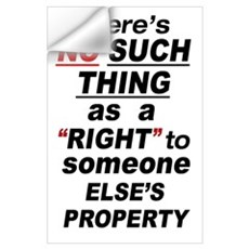 35x23 Someone Else's Property Wall Decal