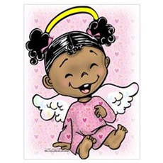 Giggling Angel Poster