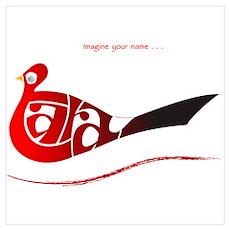Tara red bird Poster