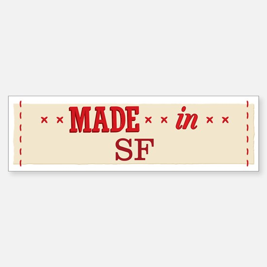 Made In 1_bumpersticker Bumper Car Car Sticker
