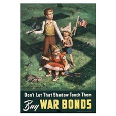 WWII DON'T LET THAT SHADOW Framed Print
