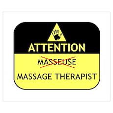 Massage Therapist Poster