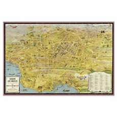 Greater Los Angeles 1932 Framed Print