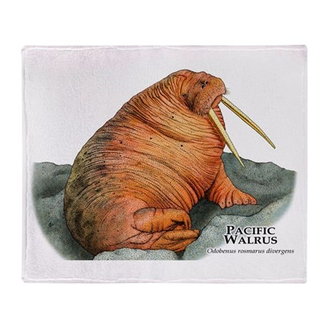 Pacific Walrus Throw Blanket