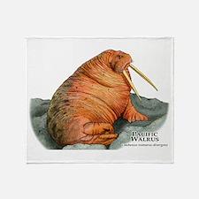 Pacific Walrus Throw Blanket
