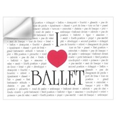 I Love Ballet Wall Decal