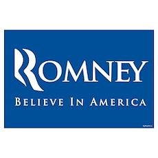 Romney - Believe in America Poster