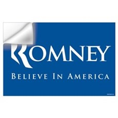 Romney - Believe in America Wall Decal