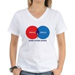 Circles Women's V-Neck T-Shirt