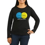Circles Women's Long Sleeve Dark T-Shirt