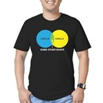 Circles Men's Fitted T-Shirt (dark)
