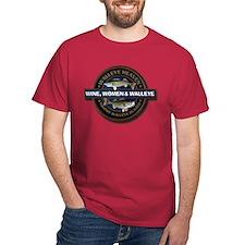 Dark Wine Women Walleye T-Shirt