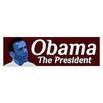 Obama in Democratic Blue bumper sticker