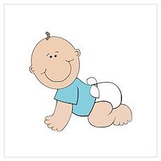 Boy baby bump Poster