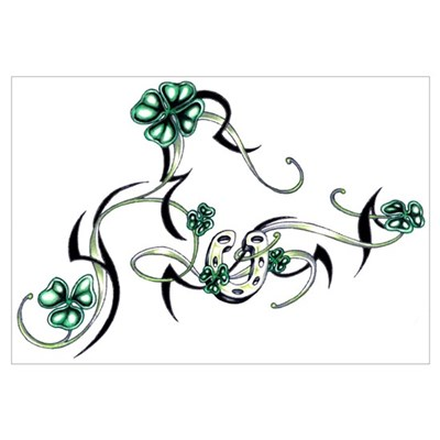 Tribal Irish Design Canvas Art