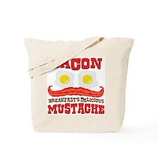 Bacon Mustache Tote Bag