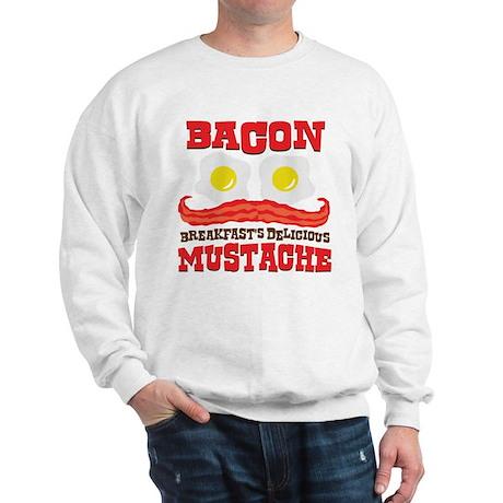 Bacon Mustache Sweatshirt