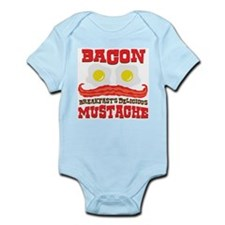 Bacon Mustache Infant Bodysuit
