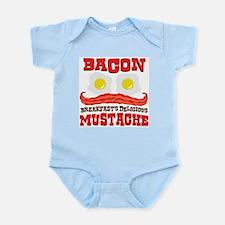 Bacon Mustache Infant Bodysuit