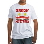 Bacon Mustache Fitted T-Shirt