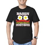 Bacon Mustache Men's Fitted T-Shirt (dark)