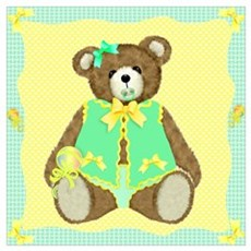 Baby Teddy Bear Poster