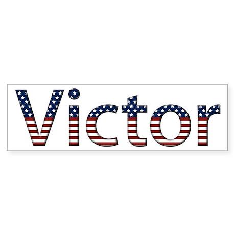 Victor Stars and Stripes Bumper Sticker