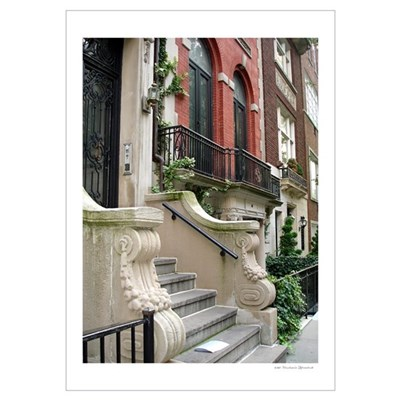 Beautiful Row House NYC Poster