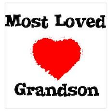 Most Loved Grandson Poster